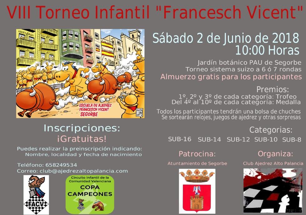 "2 junio: VIII Torneo infantil de ajedrez ""Francesch Vicent"" Segorbe ..."