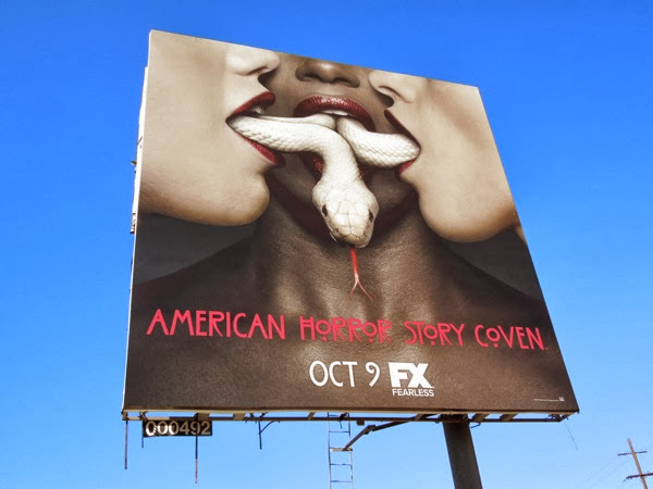 American Horror Story Coven snake billboard