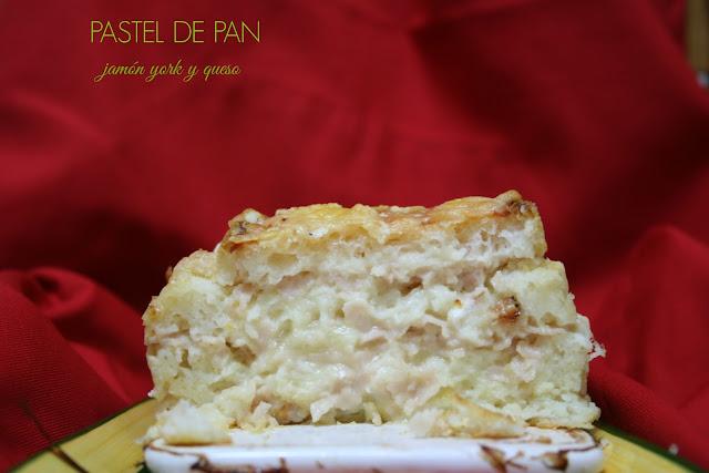 Pastel de pan de molde, jamón york y queso