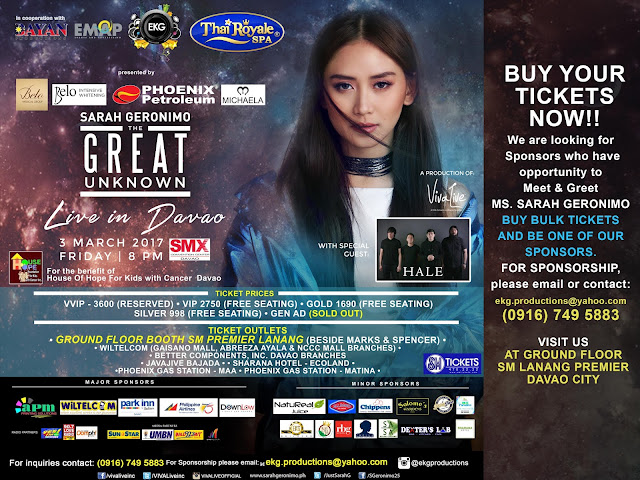 Sarah Geronimo's The Great Unknown Live in Davao