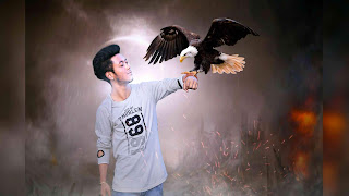 Eagle On Hand Picsart Manipulation