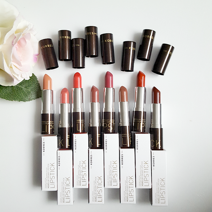 KORRES Athens - Morello Creamy Lipsticks - Review alle Farben, all colours - Beauty Blogger Madame Keke