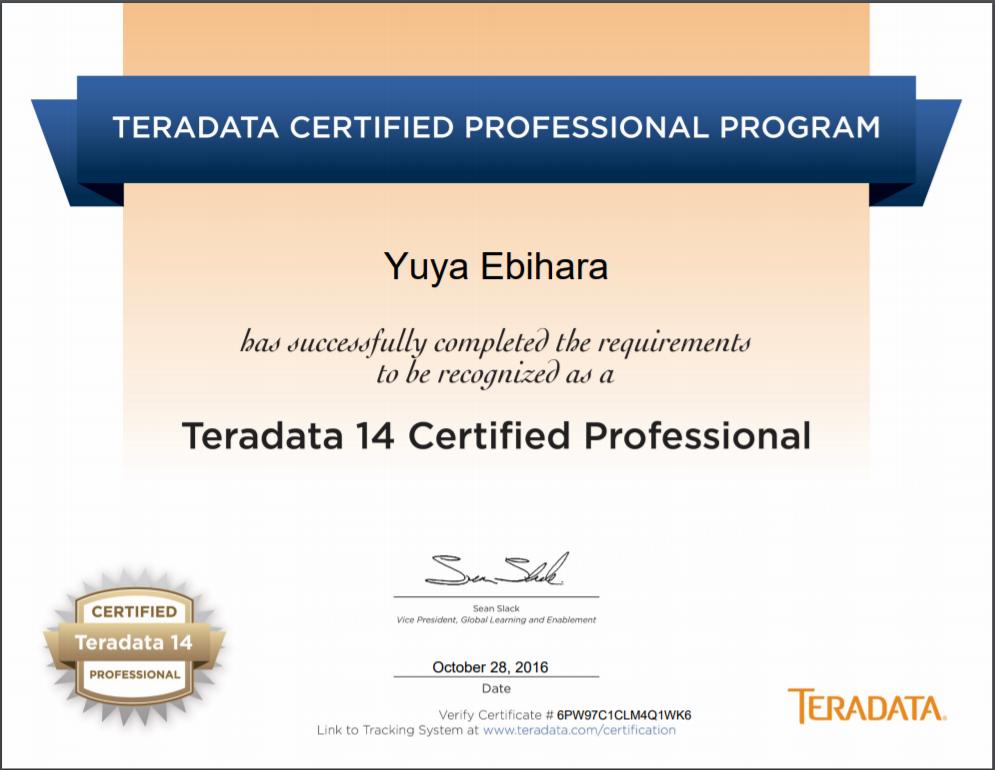 Cqv Teradata Certified Professional Program