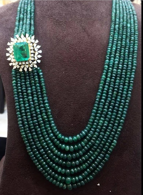 Emerald and Sapphire Beads Sets