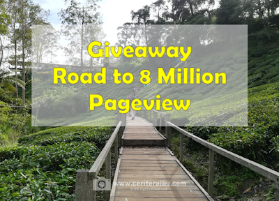Giveaway Road to 8 Million Pageview, Blogger Giveaway, Blog,