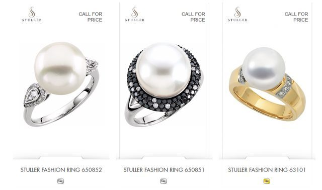 Northeastern Diamond and Pearl Rings