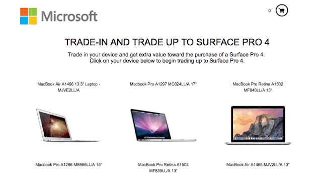 Microsoft trade in trade up campaign