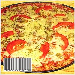 Pizza de pão de forma simples com mussarela