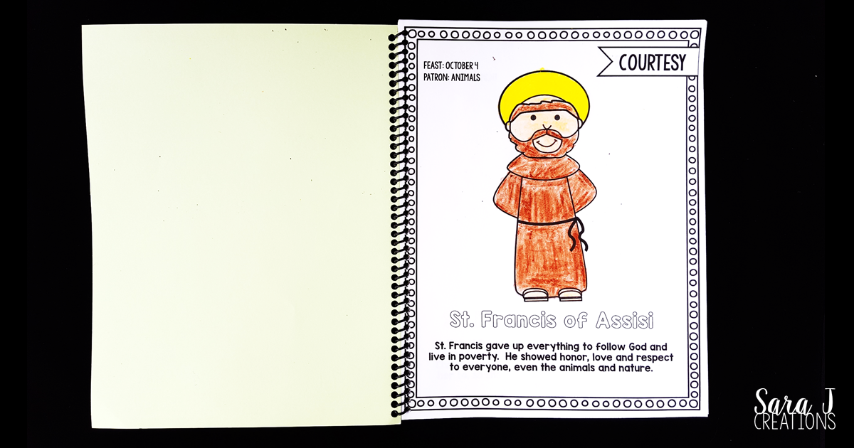 Catholic Saints Coloring Book Includes 56 Different Great Way To Teach The Virtues