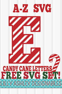 free Christmas monogram svg file set