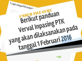 Panduan Verval Inpasing PTK Kemenag 2016 [ Download ]