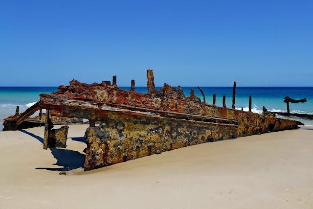 Bulwer Wrecks Schiffs-Wracks Moreton Island Strand verrostet Rost alt