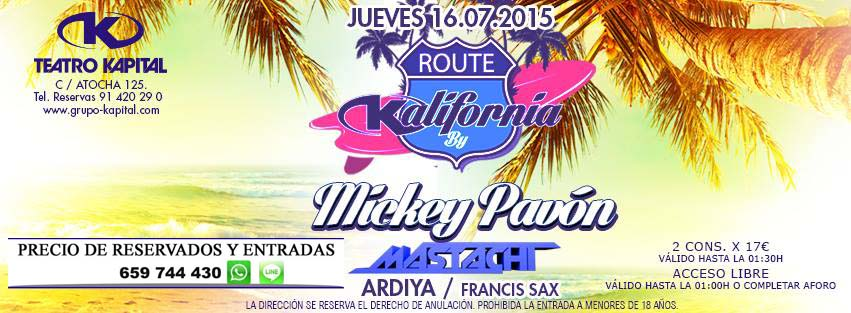 Discoteca Kapital Madrid 659 744 430 Whatsapp Julio 2015