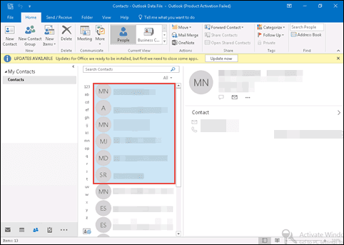 Free guide to save outlook 2016 2013 2010 contacts as vcard click on forward contact drag down button and select as a business card option reheart Choice Image