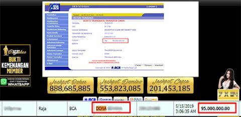 Selamat Kepada Member Setia Ompoker WD 95.000.000