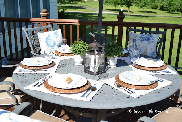 Summer Table setting on deck