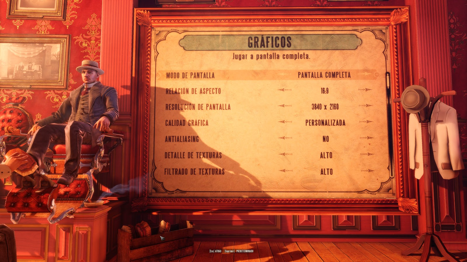 Bioshock Infinite configuración en 4K
