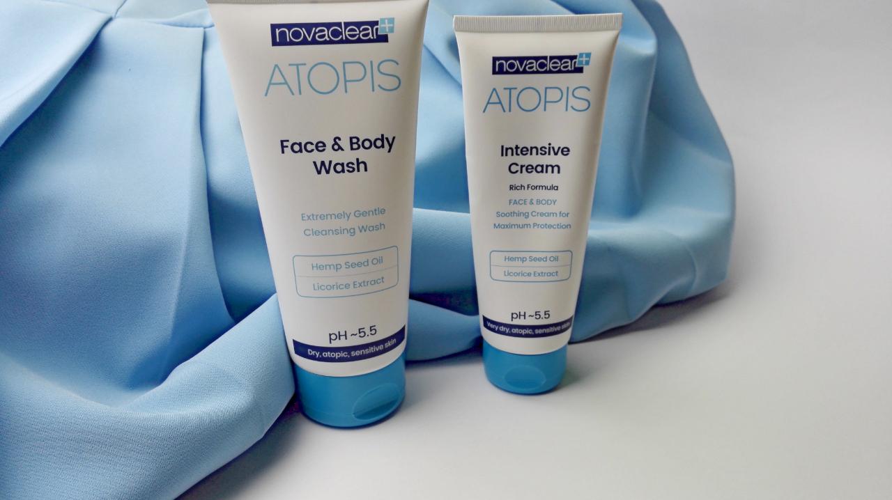 NovaClear Atopis - zestaw kosmetyków dla atopowej, wrażliwej i suchej skóry