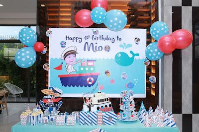trang trí không gian sinh nhật cho bé trai tại nhà