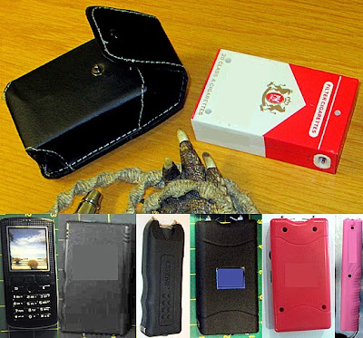 (L-R) Stun Guns Discovered at MCO, LAS, LAS, ECP, LAS, MKE, SEA
