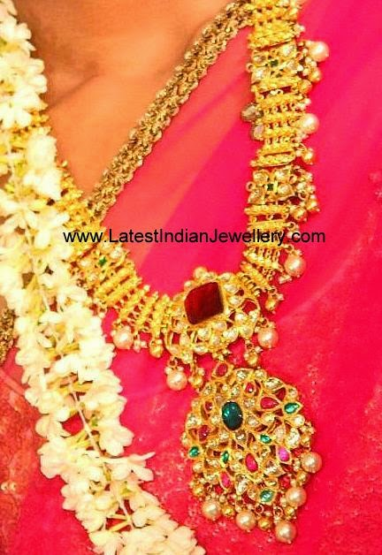 antique gold kundan necklace