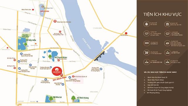 Vị trí dự án Hinode City Minh Khai