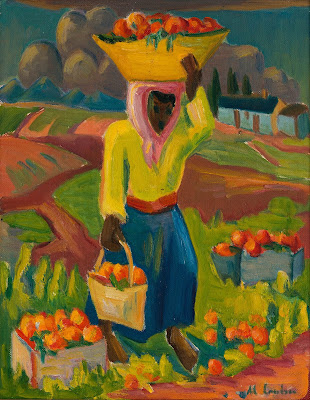 Fruit Carrier in a Landscape, Maggie Laubser