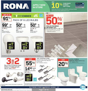 Rona Ontario Flyer October 26 - November 01, 2017