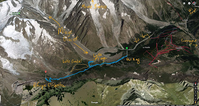 GPS tracks of hike to Rifugio Elisabetta up the Val Veny.