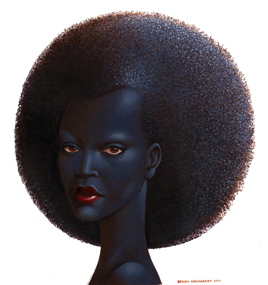 me,Brook: Blue Black Lady , fro ladies 1 of 3