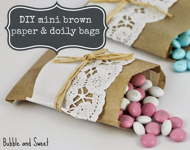 Hacer bolsa de papel decorada para golosinas