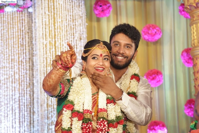 Big Boss Contestant Suja Varunee Marriage Stills-Many celebrity wishes the couple