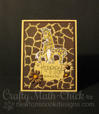 Giraffe Mom & Baby Mother's Day card by Crafty Math Chick | Wild Child & Simply Seasonal by Newton's Nook Designs