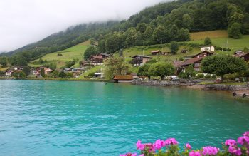 Wallpaper: Brienz Lake Turquoise Waters