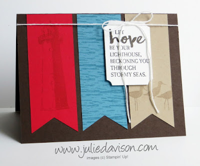 Stampin' Up! High Tide Triple Banner Card ~ www.juliedavison.com