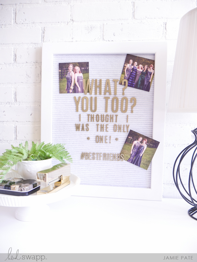 National Best Friend Day June 8 ~ Heidi Swapp Letterboard style by Jamie Pate  |  @jamiepate for@heidiswapp