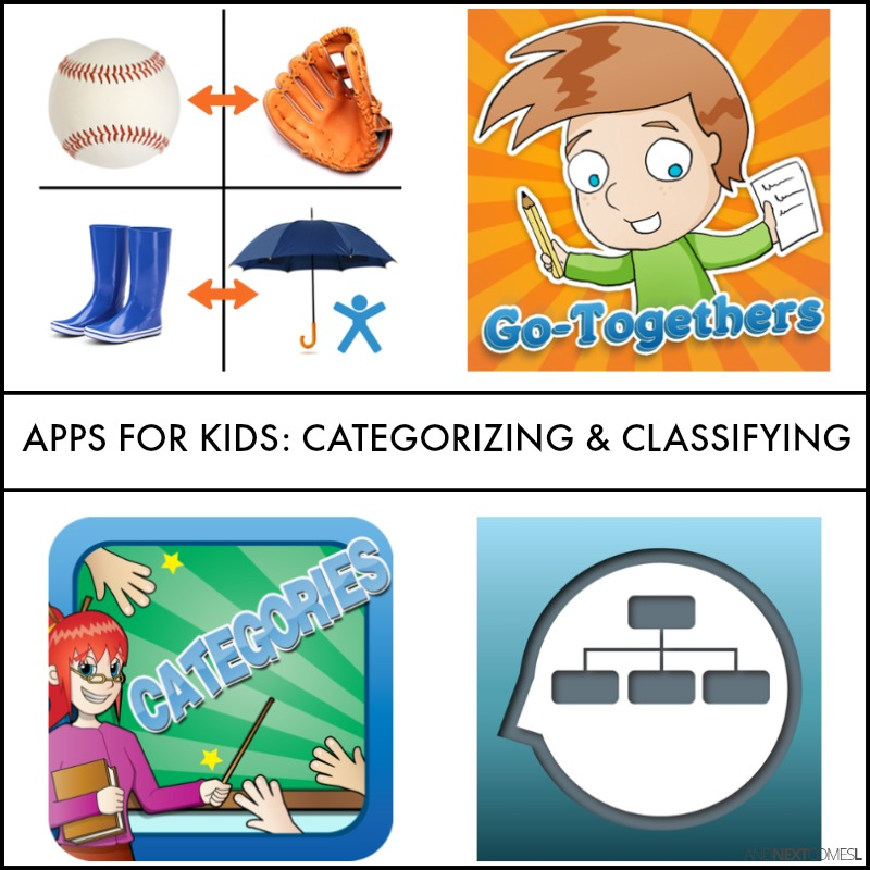 Speech Apps For Kids To Work On Classifying Associations