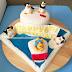 Winnie The Pooh & Penguin Of Madagascar Theme Birthday Cake