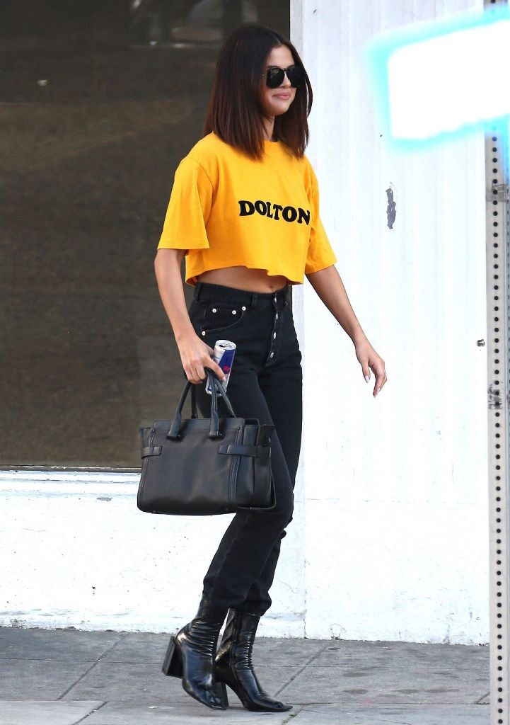 Selena Gomez in Casual Chic Outfit – Leaving Shamrock Tattoo in Hollywood