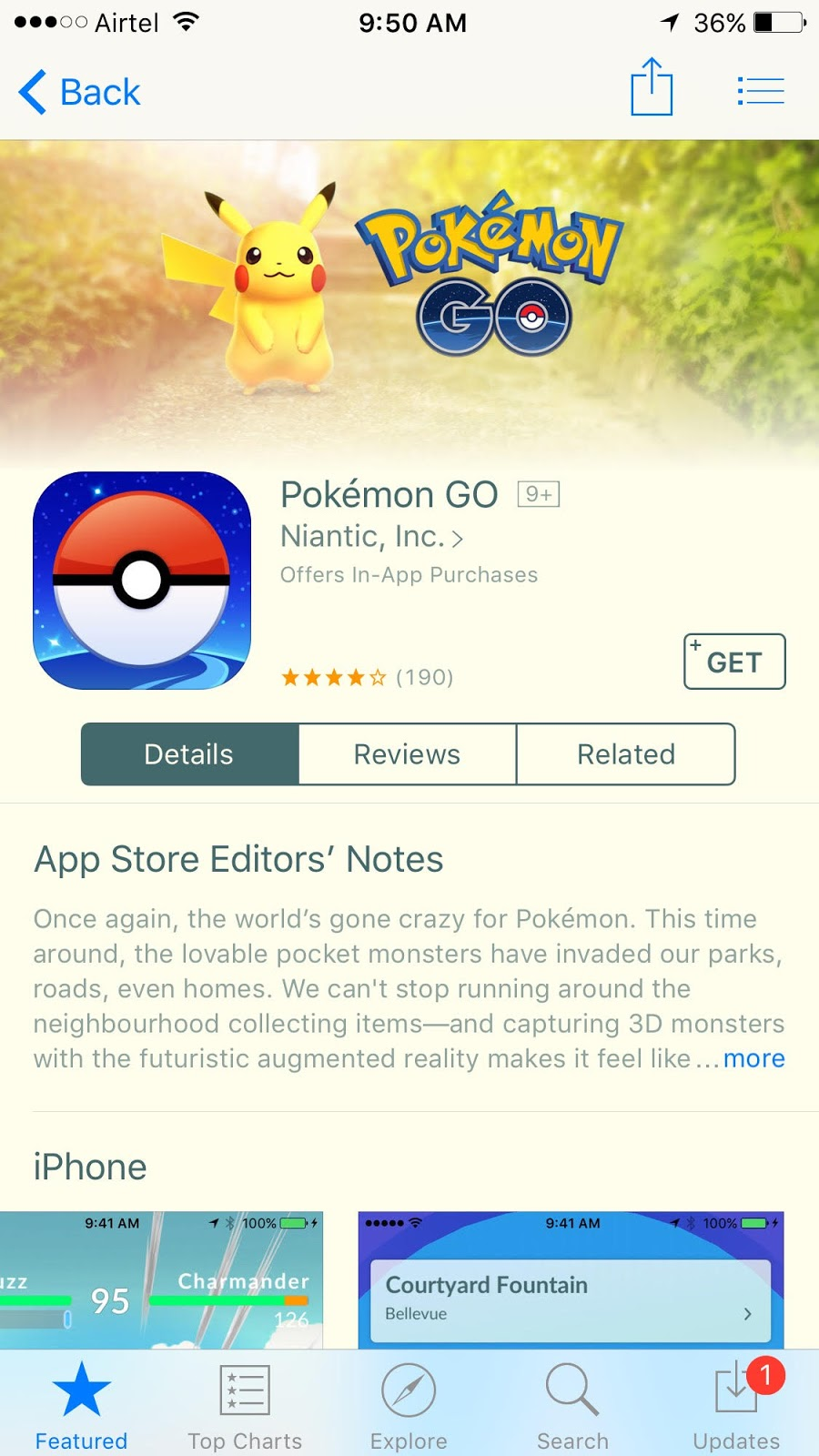 pokemon go now available in india on apple appstore and google