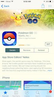 Pokemon Go Appstore
