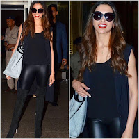 Deepika Padukone in leather pants
