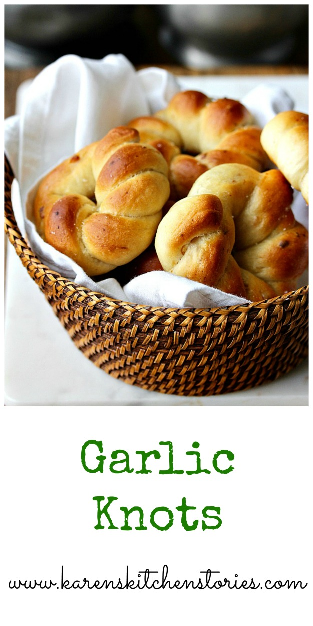 Garlic Knots in a basket