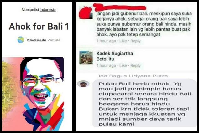 """Bayangkan Jika Ahok Mengatakan """"Jangan Mau Dibodohi dan Dibohongi Pakai Adat Bali"""", Apa yang Akan Terjadi?"""