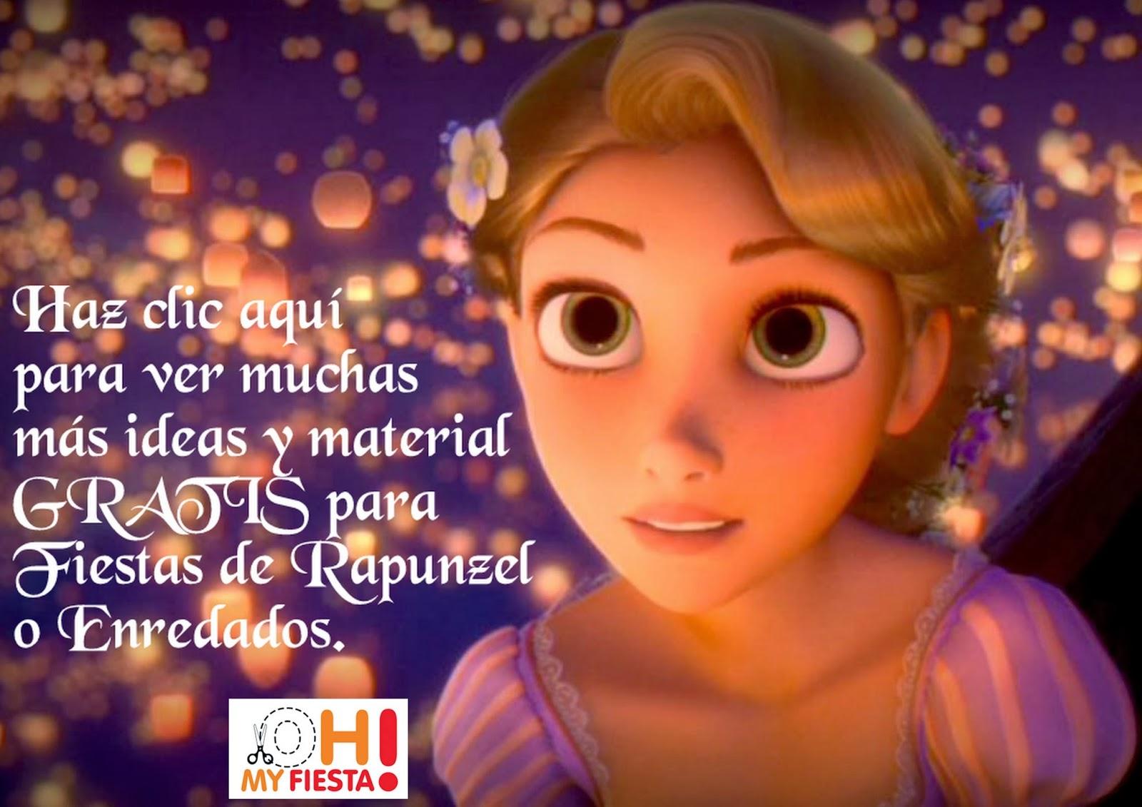Ideas y material Gratis para Fiestas de Rapunzel.