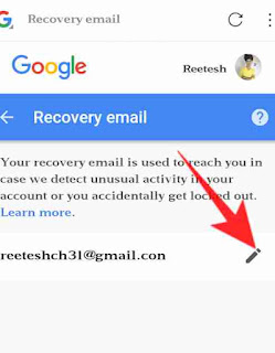 Google account me recovery email set kaise kare 4