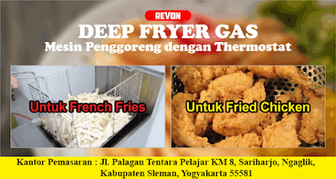 Jual Deep fryer Gas Murah (Bahan Stainless Steel)
