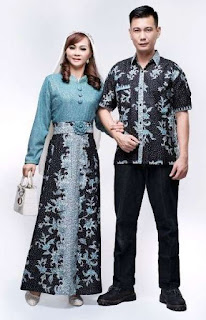 Baju batik sarimbit untuk pasangan muda