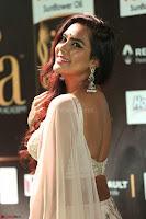 Prajna Actress in backless Cream Choli and transparent saree at IIFA Utsavam Awards 2017 0092.JPG
