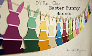 DIY Paint Chip Easter Bunny Banner
